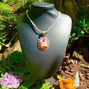 Vintage Carolyn Pollack inlay pendant